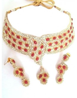 Designer Stone Necklace Set - 77847