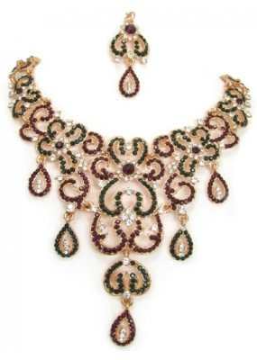 Designer Stone Necklace Set - 79762