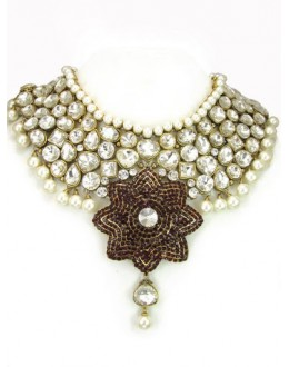 Designer Stone Necklace Set - 80019