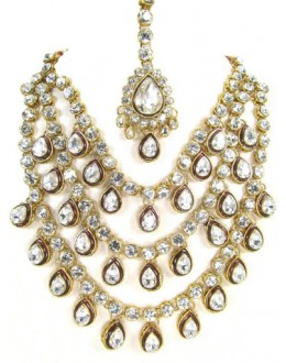 Designer Stone Necklace Set - 80074
