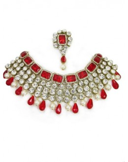 Designer Stone Necklace Set - 80739