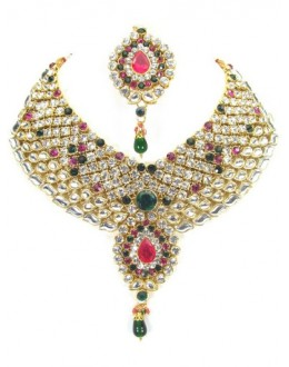 Designer Stone Necklace Set - 81927
