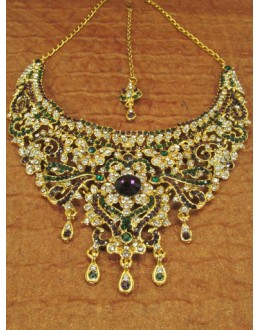 Designer Stone Necklace Set - 82090