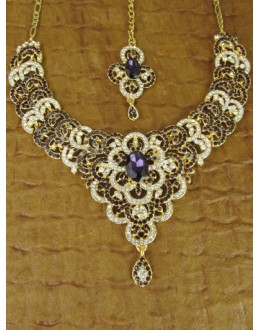 Designer Stone Necklace Set - 82197