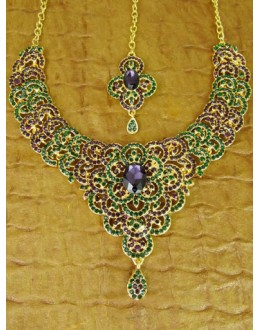 Designer Stone Necklace Set - 82199