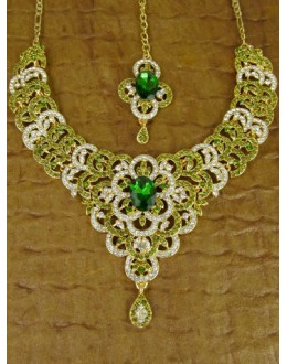 Designer Stone Necklace Set - 82200