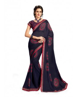Ethnic Wear Blue Georgette Saree - 5020