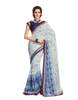 Casual Wear Multi-Colour Georgette Saree - 5021