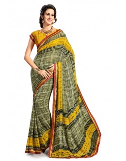 Ethnic Wear Multi-Colour Georgette Saree - 5022