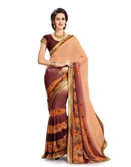 Georgette Multi-Colour Designer Saree - 5023