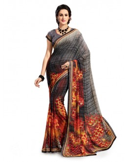 Casual Wear Multi-Colour Georgette Saree - 5026