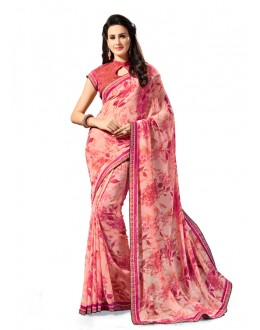 Georgette Multi-Colour Ethnic Saree - 5028