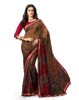 Ethnic Wear Multi-Colour Georgette Saree - 5031