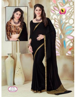 Ethnic Wear Black Georgette Saree  - ASHIKA2115