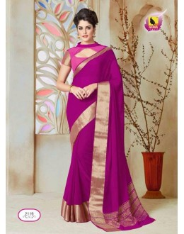 Party Wear Pink Chiffon Saree  - ASHIKA2119