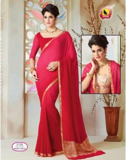 Ethnic Wear Red Chiffon Saree  - ASHIKA2126