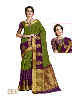 Festival Wear Chiffon Cotton Silk Saree  - AASHIKA-2410