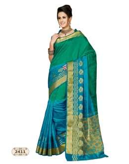 Ethnic Wear Multi-Colour Chiffon Cotton Silk Saree  - AASHIKA-2411