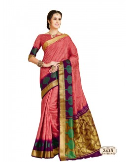 Ethnic Wear Multi-Colour Chiffon Cotton Silk Saree  - AASHIKA-2413