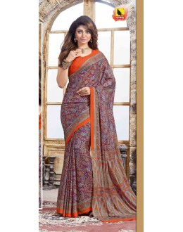 Ethnic Wear Multi-Colour Crepe Silk Saree  - 4021-A