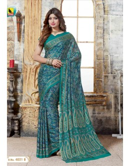 Festival Wear Multi-Colour Crepe Silk Saree  - 4021-B