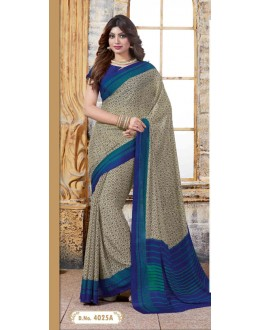 Festival Wear Multi-Colour Crepe Silk Saree  - 4025-A