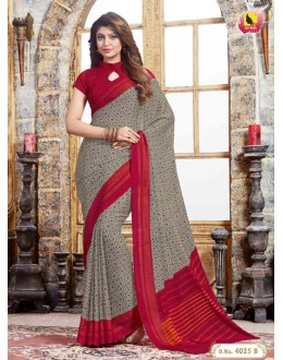 Party Wear Multi-Colour Crepe Silk Saree  - 4025-B