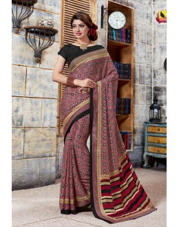 Ethnic Wear Multi-Colour Crepe Silk Saree  - 4029-B