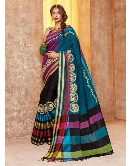 Festival Wear Multi-Colour Saree - sindoor