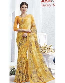 Casual Wear Yellow Luxury Silk Saree  - 1619