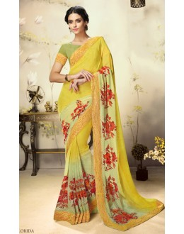 Casual Wear Multicolour Georgette Saree  - 1809