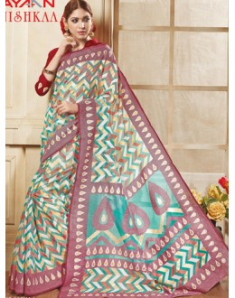 Casual Wear Multicolour Brasso Saree  - 1915
