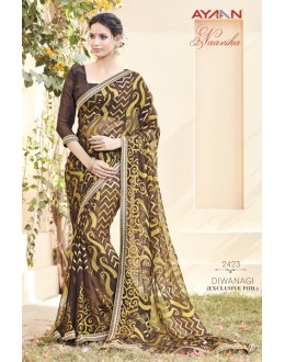 Casual Wear Brasso Georgette Saree - AYAAN-2423