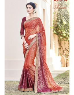 Party Wear Brasso Chiffon Saree - AYAAN-2426