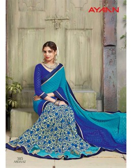 Festival Wear Multi-Colour Half & Half Saree  - 3115