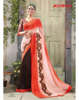 Ethnic Wear Multi-Colour Chiffon Saree  - 3120