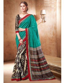 Casual Wear Multi-Colour Bhagalpuri Khadi Silk Saree  - 3236