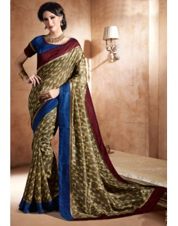 Party Wear Multi-Colour Bhagalpuri Khadi Silk Saree  - 3238