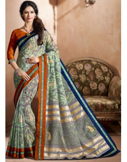 Multi-Colour Bhagalpuri Khadi Silk Saree  - 3239