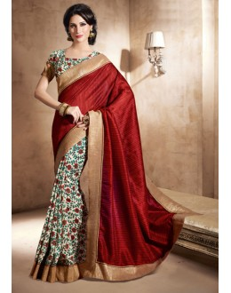 Casual Wear Multi-Colour Bhagalpuri Khadi Silk Saree  - 3240