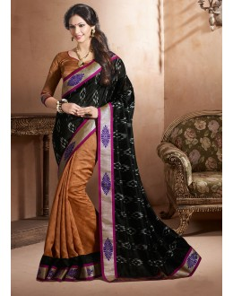 Bhagalpuri Khadi Silk Multi-Colour Saree  - 3244