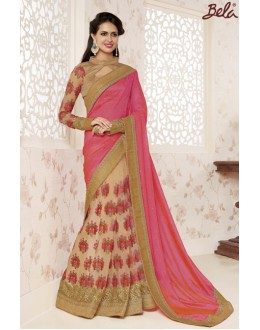 Party Wear Multi-Colour Saree  - BELA-12241