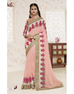 Festival Wear Shine Georgette Saree  - BELA-12251