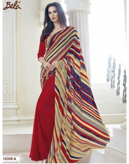 Marble Gerogette Multi-Colour Saree  - BELA-12335-A