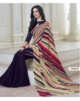 Marble Gerogette Multi-Colour Saree  - BELA-12335-B