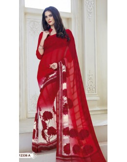 Ethnic Wear Multi-Colour Marble Gerogette Saree  - BELA-12336-A