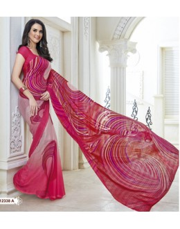 Ethnic Wear Multi-Colour Marble Gerogette Saree  - BELA-12338-A