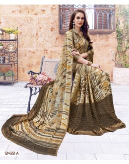Multi-Colour Georgette Printed Saree  - 12422-A