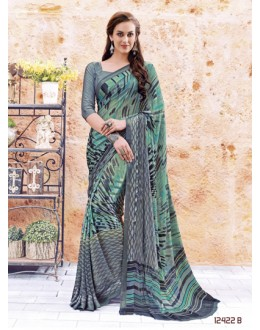 Ethnic Wear Multi-Colour Georgette Saree  - 12422-B