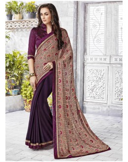 Multi-Colour Ethnic Half & Half Saree  - 12469